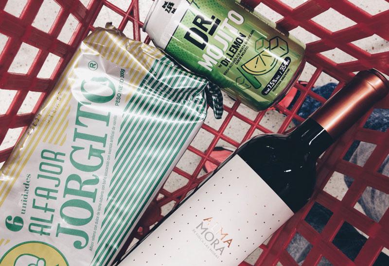 Compras no Disco: vinho, alfajor e um mojito pronto!