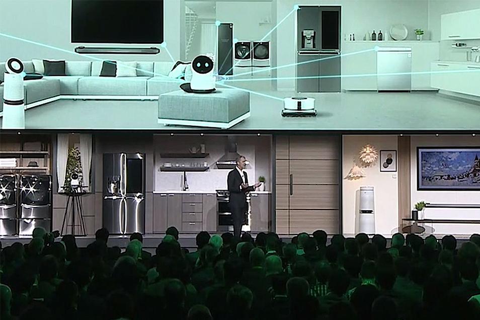 Apresentação do CLOi durante a Consumer Electronics Show (CES) de 2018